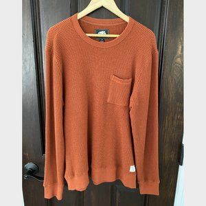 Roots Thermal Sweater Orange Large